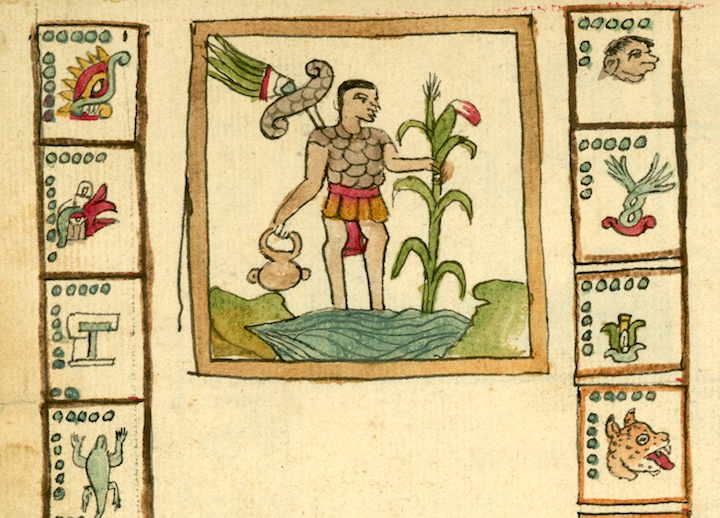 colorful manuscript hieroglyphs from the Tovar Codex