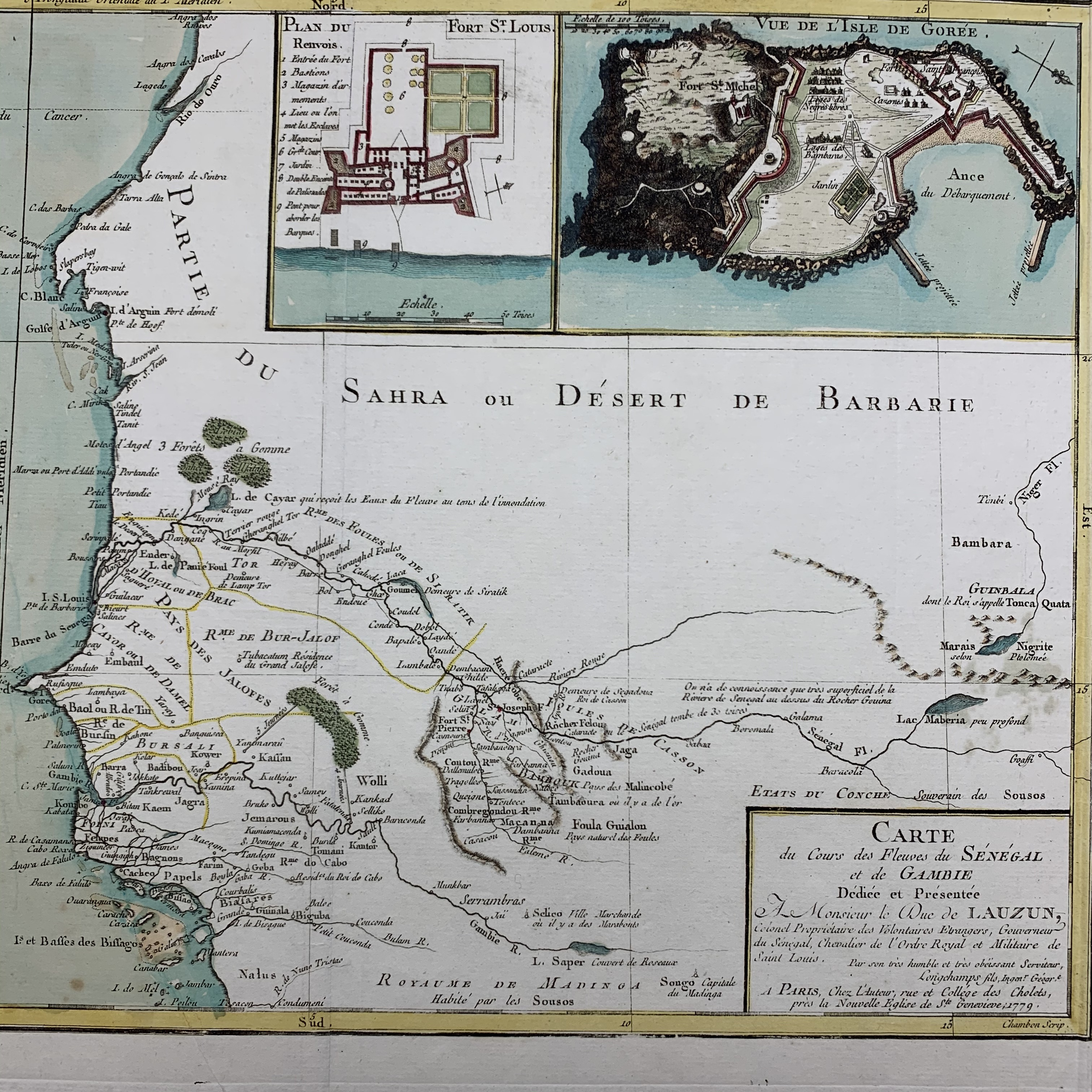 detail of map of part of West Africa