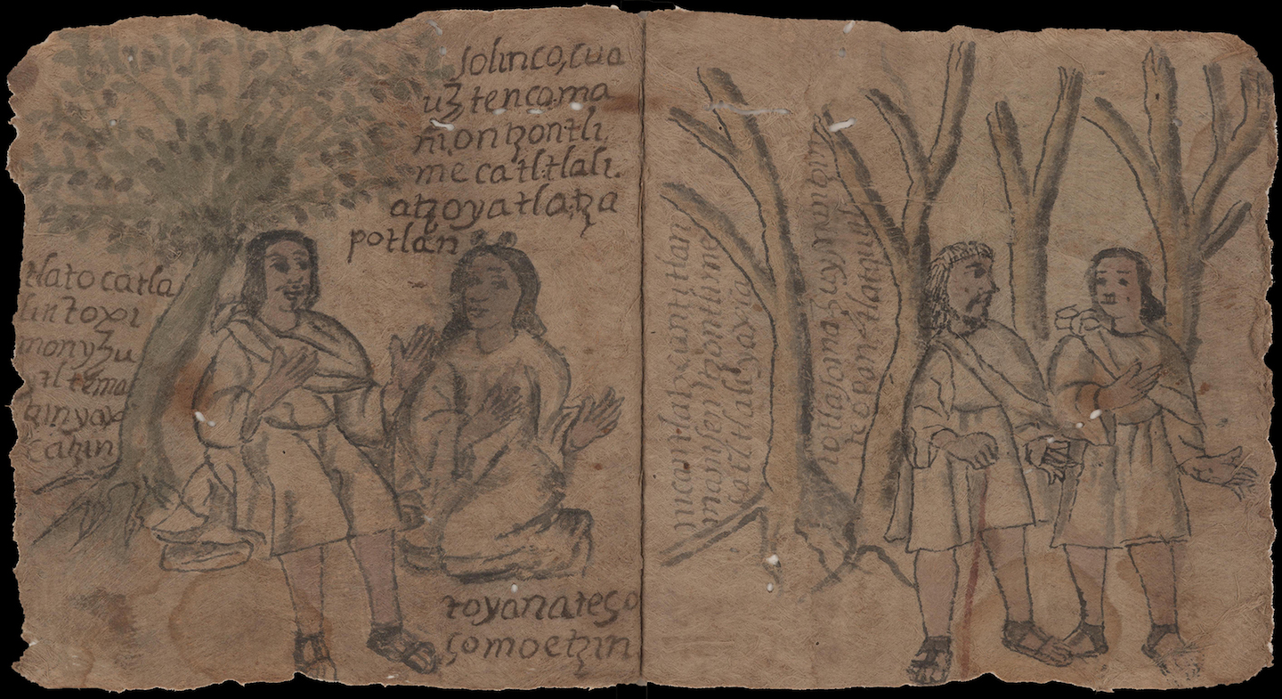 manuscript illustration on amatl paper