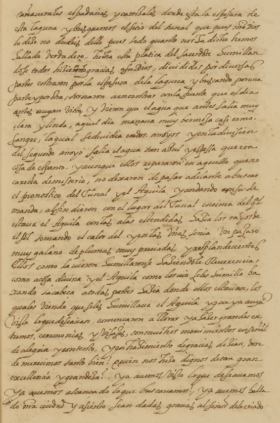 manuscript text in Spanish
