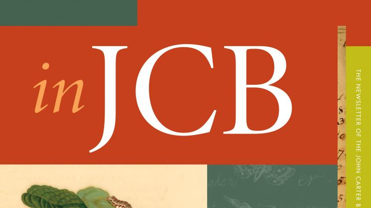 cover of the In JCB newsletter showing a colorful image of cacao
