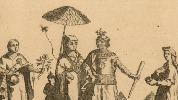 Image from: Inca or Indians of Peru. [N. Guérard le fils, 1717]. Original image at the John Carter Brown Library.