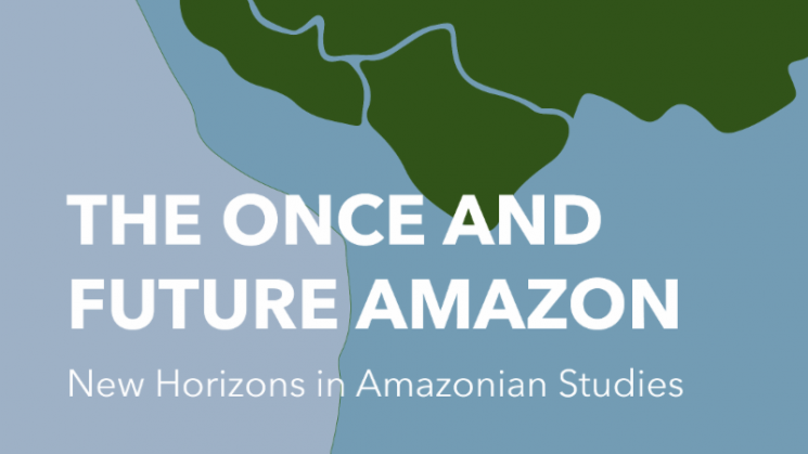 the once and future amazon text written over a blue and green poster
