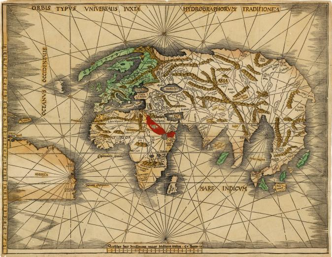 sixteenth-century map of the world