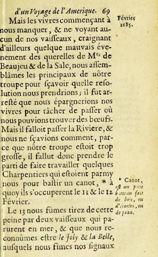 printed text in French