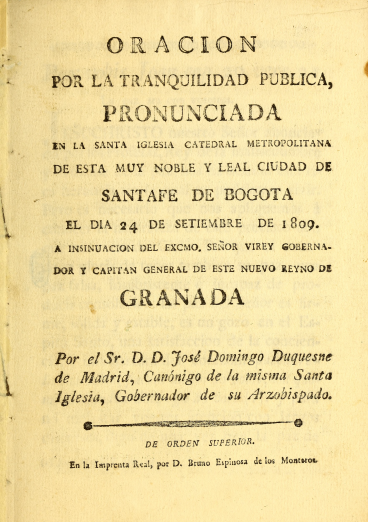 Detail of a printed book shows the title page with text in Spanish.