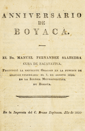 Detail of a printed book shows a title page written in Spanish.