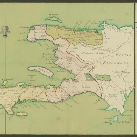 colored map of Saint-Domingue