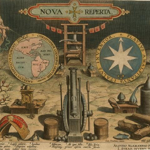 illustration of sixteenth-century technological developments