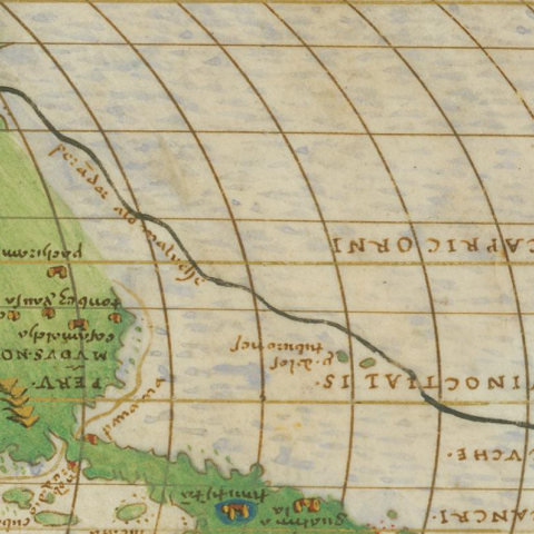 A view of the Strait of Magellan from the Agnese Atlas