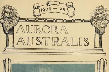 frontispiece of Aurora Australis 20th century book