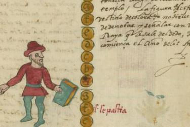 Image from: Tovar, Juan de. [Tovar Codex]. [Mexico City, between 1582 and 1587]. Original at the John Carter Brown Library.