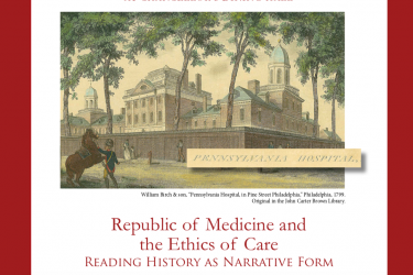 poster for the event republic of medicine and the ethics of care