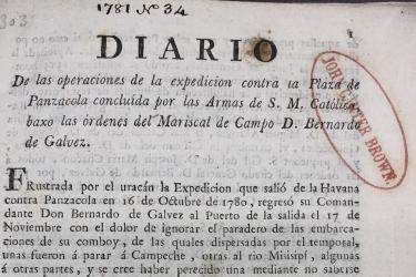 printed title page with text in Spanish