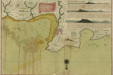 colorful eighteenth-century map of the northern coast of Hispaniola